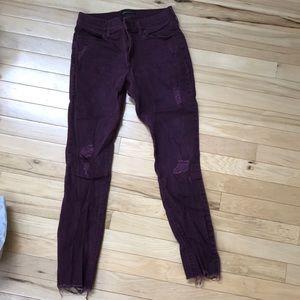 Purple Jean leggings size 2R